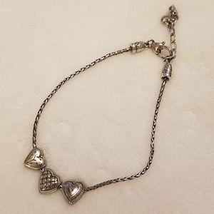 Brighton Hearts Charm Bracelet EUC
